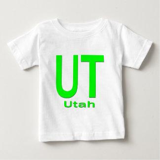 UT Utah einfaches Grün Baby T-shirt