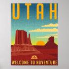 Utah-Abenteuer - Vintager Entwurf Poster