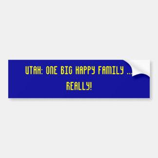 Utah: eine große glückliche Familie Autoaufkleber
