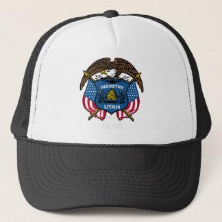 Utah-Flaggen-Thema 00 Truckerkappe