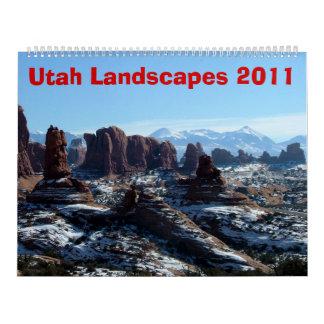 Utah gestaltet 2011 landschaftlich kalender