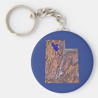 Utah-Karte Keychain Schlüsselanhänger