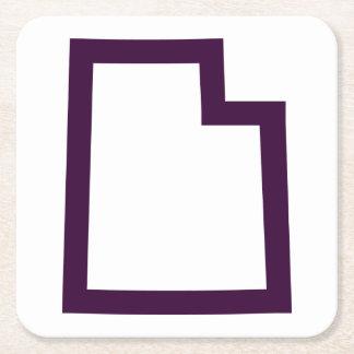 Utah (lila) rechteckiger pappuntersetzer