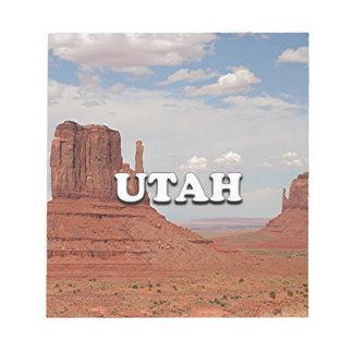 Utah: Monument-Tal, USA Notizblock