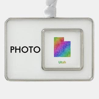 Utah Rahmen-Ornament Silber