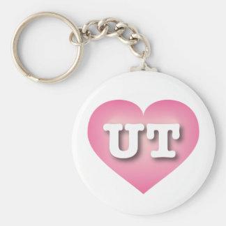 Utah-Rosa verblassen Herz - große Liebe Schlüsselanhänger