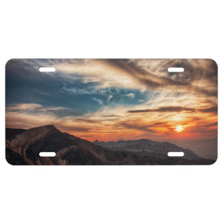 Utah-Sonnenuntergang US Nummernschild