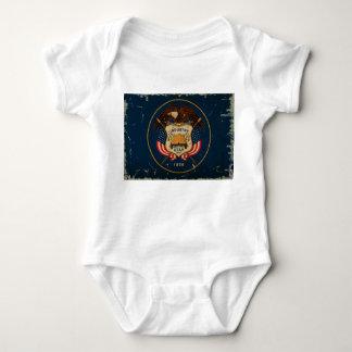 Utah-Staats-Flagge VINTAG Baby Strampler