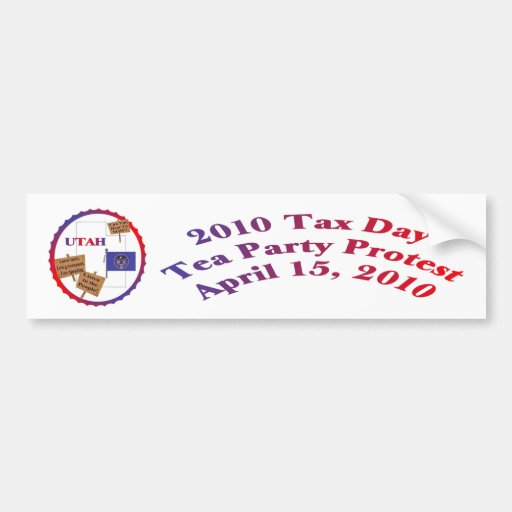 Utah-Steuer-Tagestee-Party-Protest Autosticker