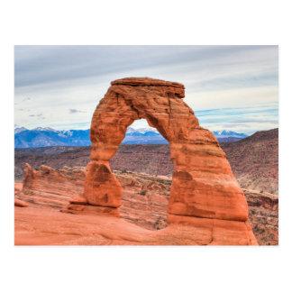 Utah, USA. Empfindlicher Bogen im Postkarte