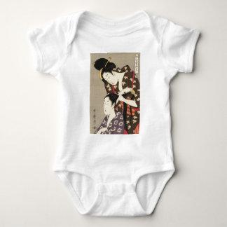 Utamaro Yuyudo Ukiyo-e die Frisur der Frauen Kunst Baby Strampler