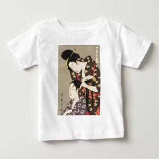 Utamaro Yuyudo Ukiyo-e die Frisur der Frauen Kunst Baby T-shirt