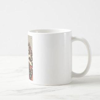 Utamaro Yuyudo Ukiyo-e die Frisur der Frauen Kunst Kaffeetasse