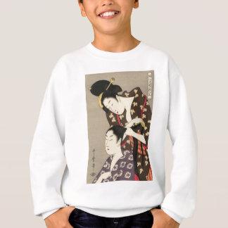 Utamaro Yuyudo Ukiyo-e die Frisur der Frauen Kunst Sweatshirt