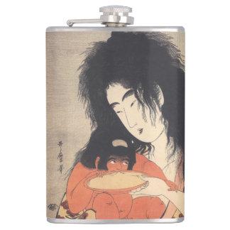 Utamaros japanische Kunst-Gewohnheitsflasche Flachmann