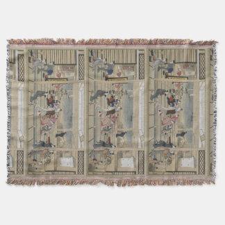 Utamaros japanische Kunst-Wurfsdecke Decke