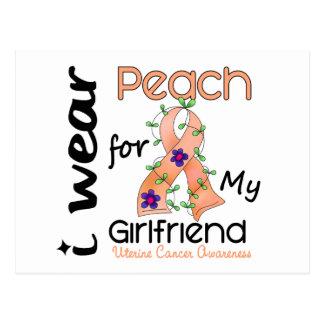 Uteriner Krebs trage ich Pfirsich für meine Postkarte