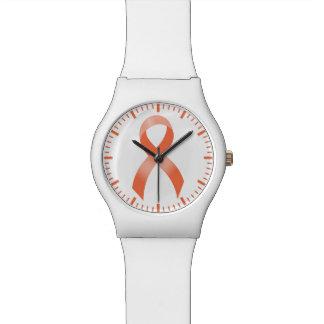 Uterines Krebs-Pfirsich-Band Armbanduhr