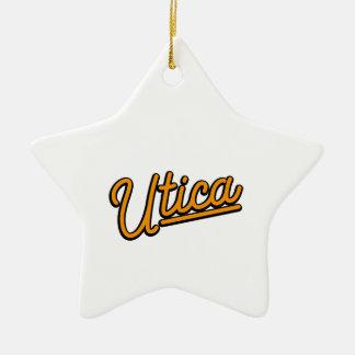 Uticaneonlicht in der Orange Keramik Ornament