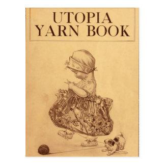 Utopie-Garn-Buch Postkarte