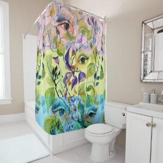 Utopische psychedelische surreale Augen fertigen Duschvorhang