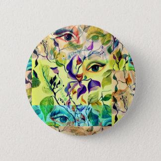 Utopischer psychedelischer surrealer Augen-Entwurf Runder Button 5,7 Cm
