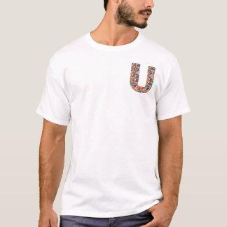 uuu ALPHABET-JUWEL-GLITZERN, Liebe, fiancer, T-Shirt