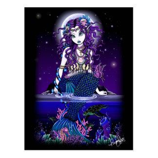 Uxia Postkarten-gotische Meerjungfrau-Fantasie Postkarte
