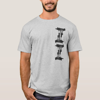 Uzi T-Shirt = spaltete Melonen auf