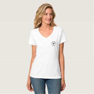V der Frauen - Hals T-Stück T-Shirt