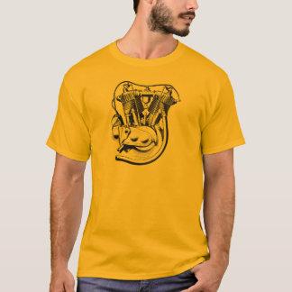 V-DoppelVintager T - Shirt des Motorrades 1915
