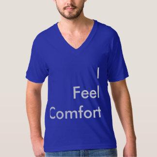 v-förmiges blaues T-Shirt