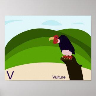 V für Geierplakat Plakat