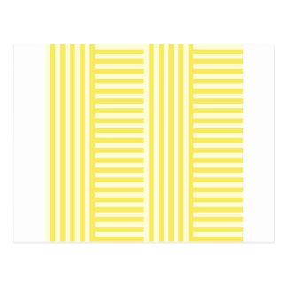 V&H einfache breite Streifen - hellgelb und Mais Postkarte