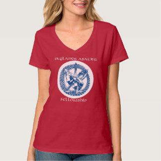 V-Hals T - Shirt mit Stammlogo