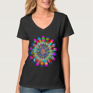 V - HALS V-Hals auserlesenes SCHEIN-SPRITZEN T-Shirt