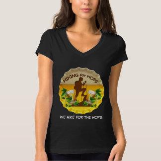 V Hiking4Hops Frauen - Hals T-Shirt in den dunklen