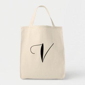 V ist für vegane Tasche