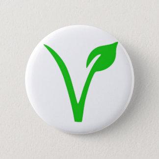 V ist für veganes runder button 5,1 cm