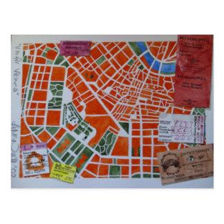 V ist für Wien-Postkarte