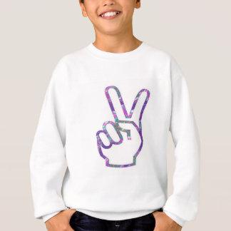 V SIEG Handfinger-Symbol Sweatshirt