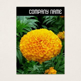 V Titel - orange Chrysantheme Visitenkarte