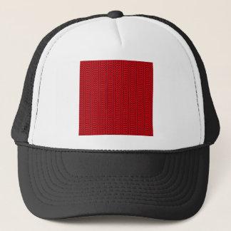 V und einfacher Zickzack-- rotes und dunkles Truckerkappe