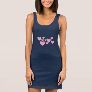 VA-CA Herz-Behälterkleid für sie durch Dal Ärmelloses Kleid