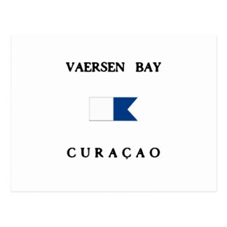 Vaersen Curaçao Alphatauchen-Flagge Postkarte