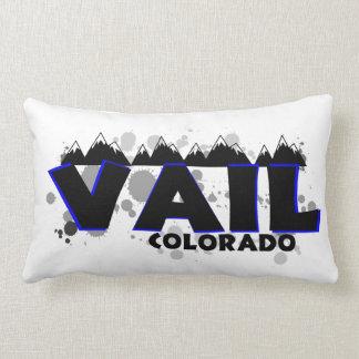 Vail Colorado künstlerisches Farbe splats Kissen
