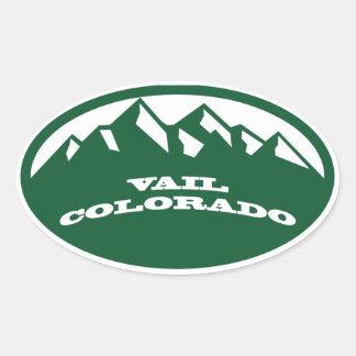 Vail Colorado Ovaler Aufkleber
