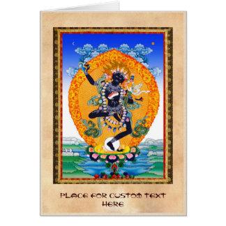 Vajravarahi cooler orientalischer Tibetaner Karte