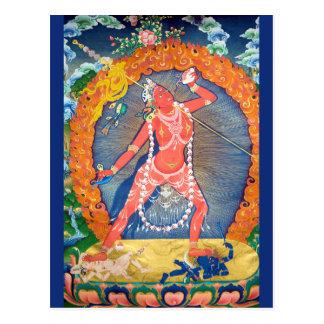 Vajrayogini tibetanische buddhistische Gottheit Postkarte