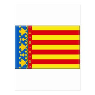 Valencia-Flagge Postkarte